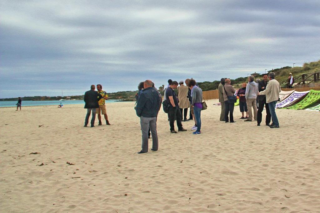 19 mai 2016 - Stintino - colloquistes à la plage